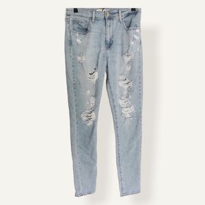 Levi's High Rise 721 Ripped Skinny Jeans 30